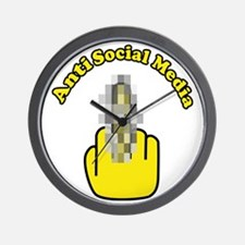 Anti Social Media Finger Wall Clock
