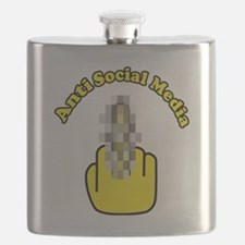 Anti Social Media Finger Flask