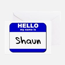hello my name is shaun  Greeting Cards (Package of