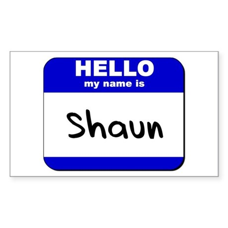 hello my name is shaun Rectangle Sticker
