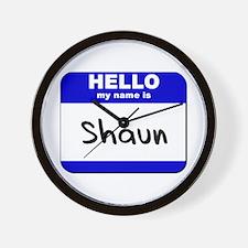 hello my name is shaun  Wall Clock