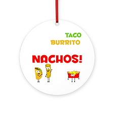 Taco and Burrito Conversation, Nach Round Ornament