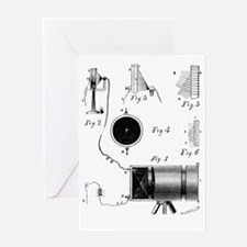 Carey's selenium camera, artwork Greeting Card