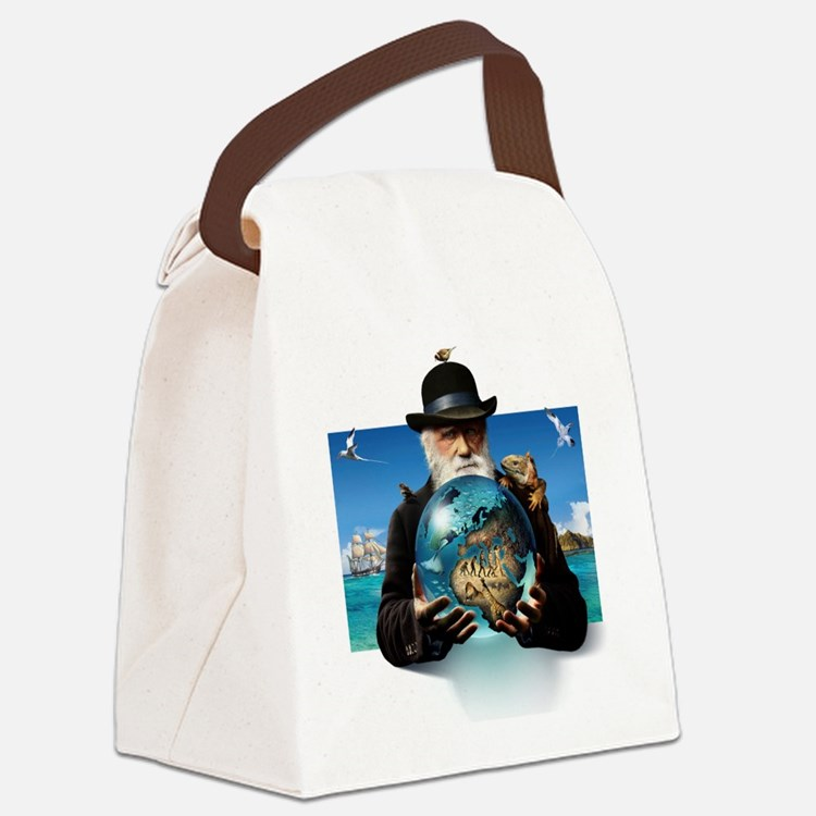 Charles Darwin, British naturalis Canvas Lunch Bag