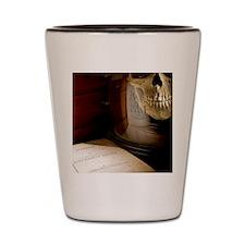 1863 Huxley Man's Place in Nature deskt Shot Glass