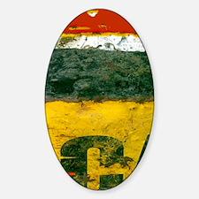 Oil Drum Grunge Flip Flops Sticker (Oval)