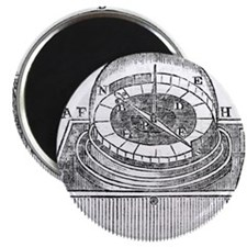 Engraving of an early azimuth compass Magnet