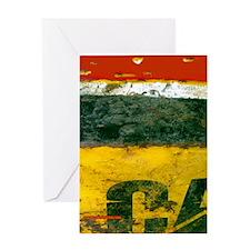 Oil Drum Grunge Flip Flops Greeting Card