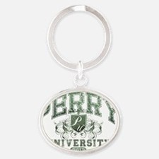 Perry Last Name University Class of  Oval Keychain
