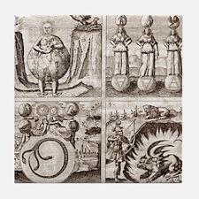 Emblems from Mylius' Philosophia refo Tile Coaster