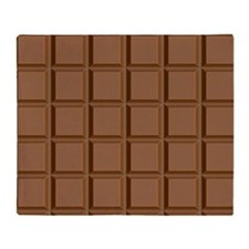 chocolate bar Throw Blanket