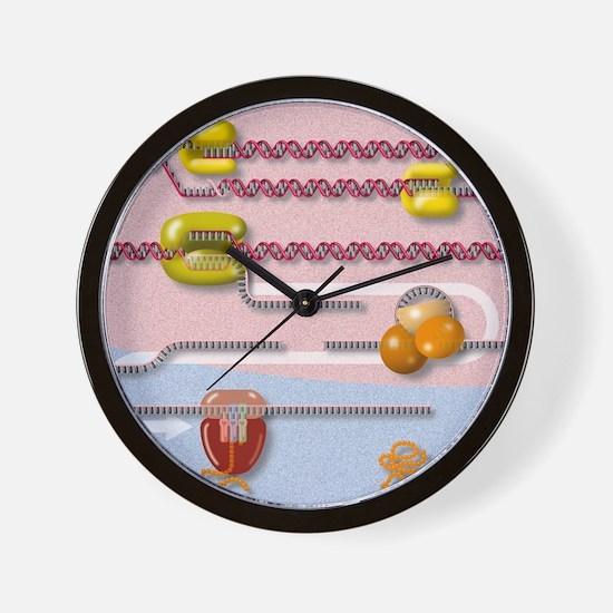 Genetic molecular mechanisms, artwork Wall Clock