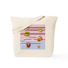 Genetic molecular mechanisms, artwork Tote Bag