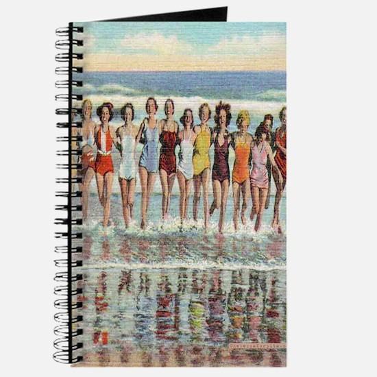 Vintage Seashore Beach Beauties Postcard Journal