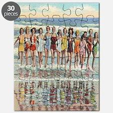 Vintage Seashore Beach Beauties Postcard Puzzle