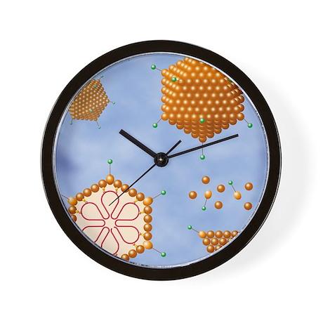 Adenovirus structure, artwork Wall Clock