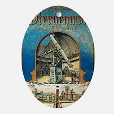 German astronomy atlas, 1882 Oval Ornament