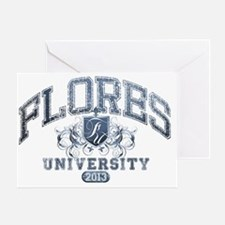 Flores last name University Class of Greeting Card