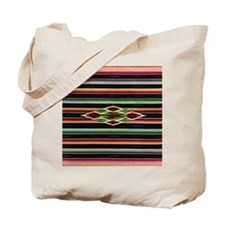 Vintage Black Mexican Serape Tote Bag