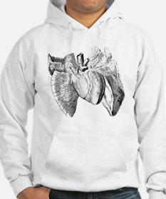 Heart and lung anatomy, 17th cen Hoodie