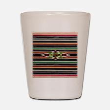 Vintage Black Mexican Serape Shot Glass