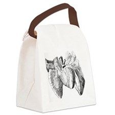 Heart and lung anatomy, 17th cent Canvas Lunch Bag