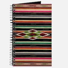 Vintage Black Mexican Serape Journal