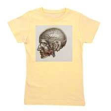 Head vascular anatomy, historical artwo Girl's Tee