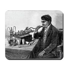 Edison talking into his phonograph Mousepad