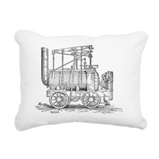Hedley's Puffing Billy,  Rectangular Canvas Pillow