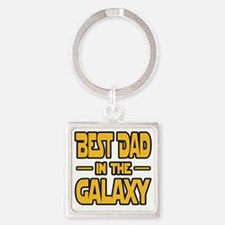 Best Dad in the galaxy SW Square Keychain
