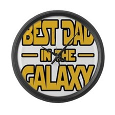 Best Dad in the galaxy SW Large Wall Clock