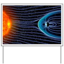 Earth's magnetosphere, artwork Yard Sign