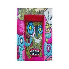 New York Graffiti Urban Flip Flop Rectangle Magnet