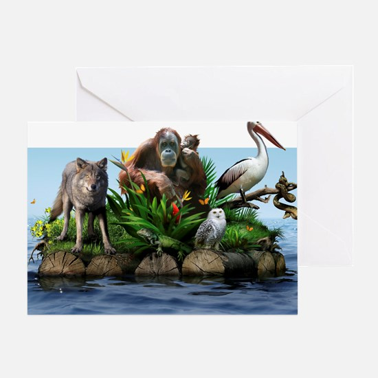 Endangered animals, conceptual image Greeting Card