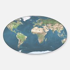 World  Map Sticker (Oval)