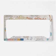 Ernst Haeckel Map Lemuria Hum License Plate Holder