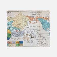 Ernst Haeckel Map Lemuria Human Orig Throw Blanket