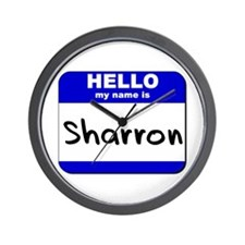 hello my name is sharron  Wall Clock