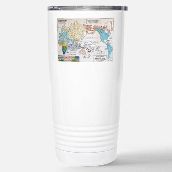 Ernst Haeckel Map Lemur Stainless Steel Travel Mug