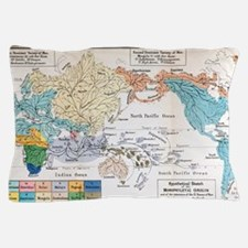 Ernst Haeckel Map Lemuria Human Origin Pillow Case