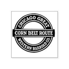 """Corn Belt Route Square Sticker 3"""" x 3"""""""