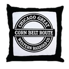 Corn Belt Route Throw Pillow
