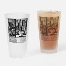 Flea infestation, satirical artwork Drinking Glass