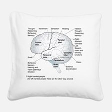 Functional areas of the brain Square Canvas Pillow