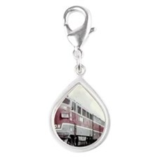 Monon Train Silver Teardrop Charm