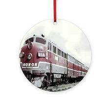 Monon Train Round Ornament