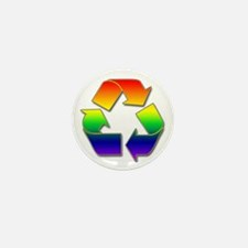 Rainbow Recycle Mini Button (10 pack)