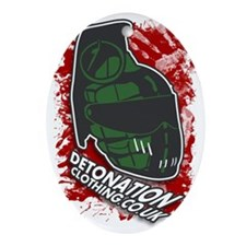 Detonation Oval Ornament