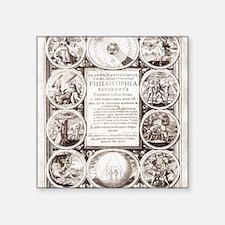 """Mylius' Philosophia reforma Square Sticker 3"""" x 3"""""""